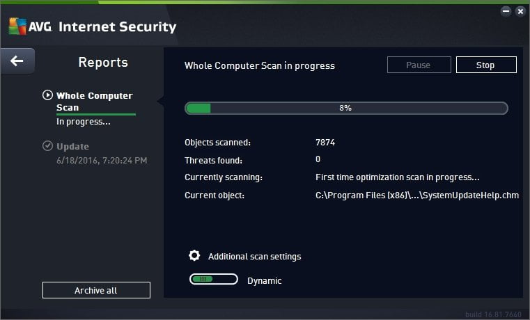 Avg İnternet Security 2016